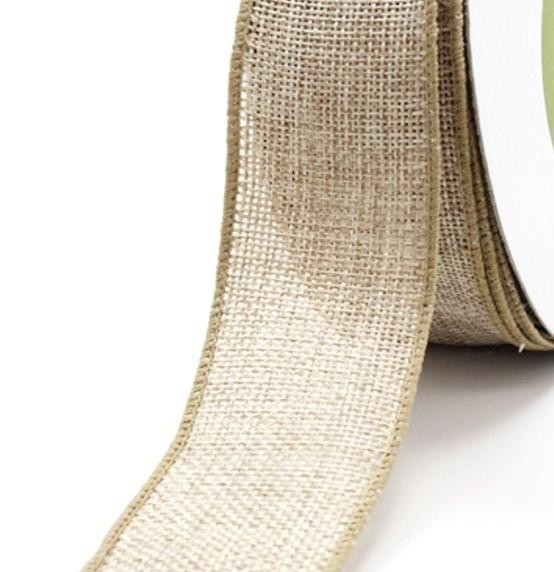 feingewebte Jute 4cm breit Meterware