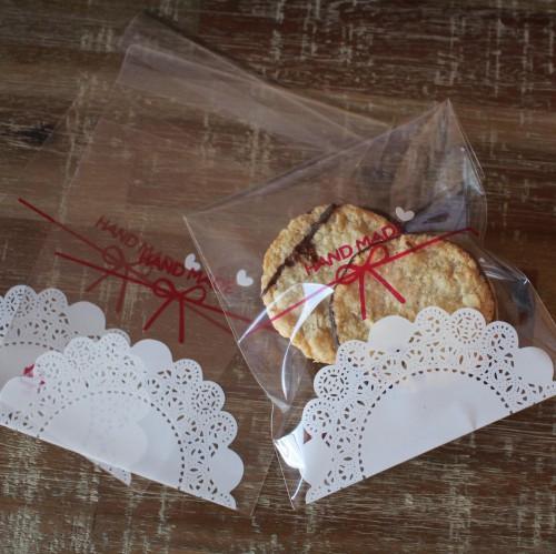 10 Cellophantüten Handmade für Kekse Gebäck