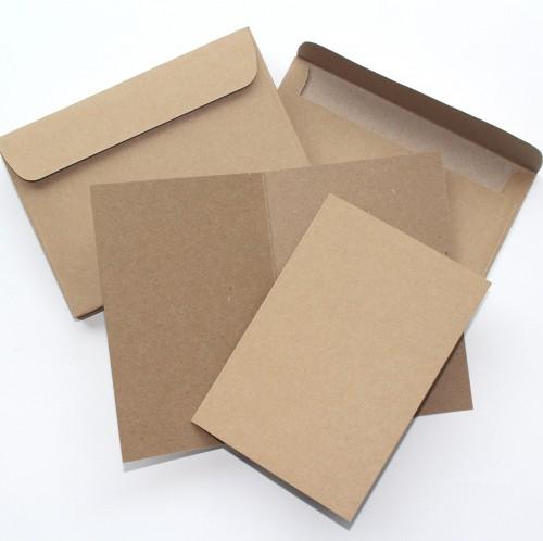 10 Stk. Karten Kraftpapier quadr. 13x13cm inkl. Umschläge