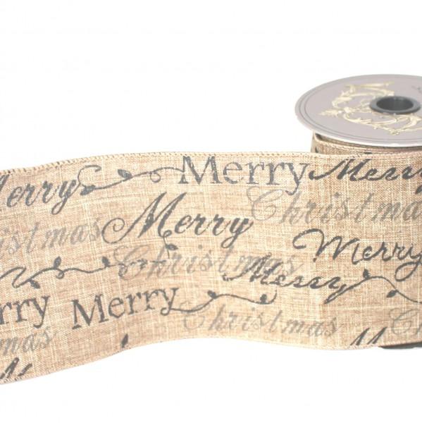 Leinenband vintage Christmas 10cm