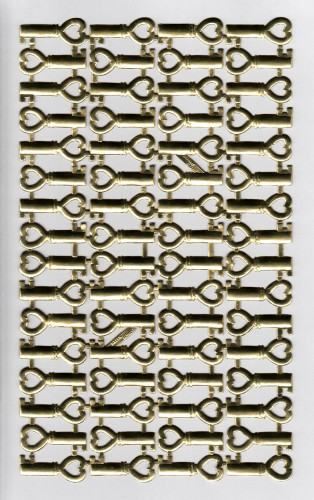 goldene Ornamente Schlüssel Bogen 64 Stk