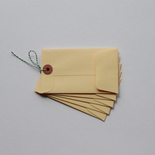 Paketanhänger Umschläge 5 Stück klein