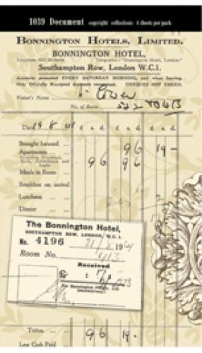 Document Paper alte Hotelrechnung