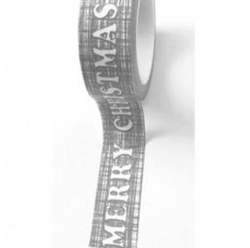Masking Tape Merry Christmas grau