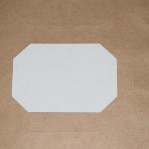 blanko A4 Bogen Kraftpapier braun Label 9 Stk Schmuck-Etikett