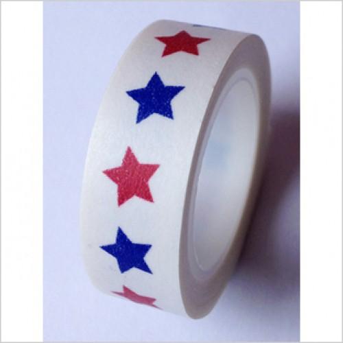 Masking Tape Stern rot blau