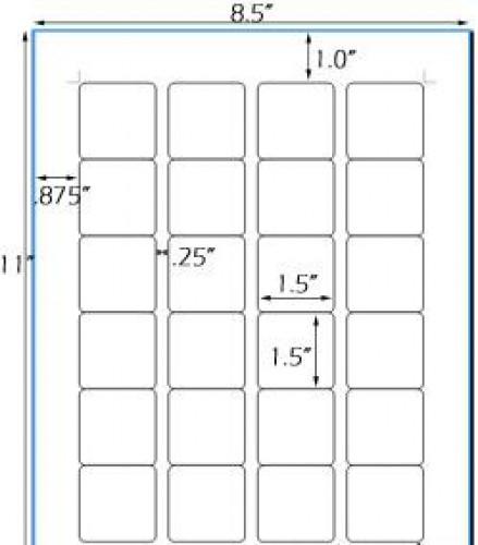 Bogen Kraftpapier braun Label 24 Stk quadratisch