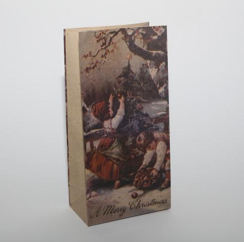 5 Stk kleine Papiertüten vintage Christmas
