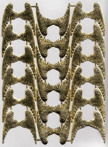 18 Paar goldene Engelsflügel Schwingen geprägt