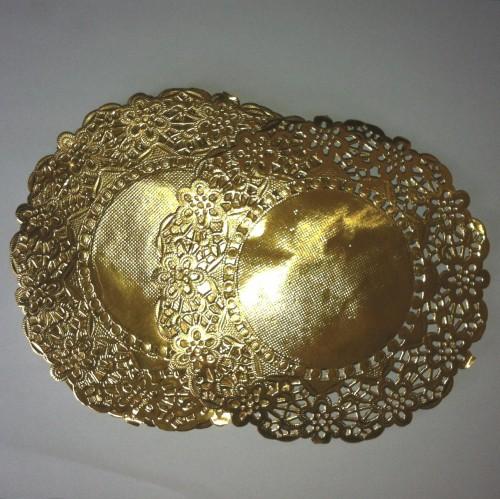 10 Stk Doilies gold Tortenspitzen 14cm