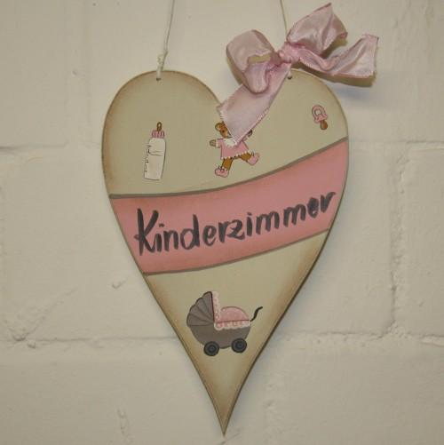 "Holzschild ""Kinderzimmer"" rosa"