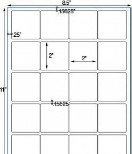Bogen Kraftpapier braun Label 20 Stk quadratisch