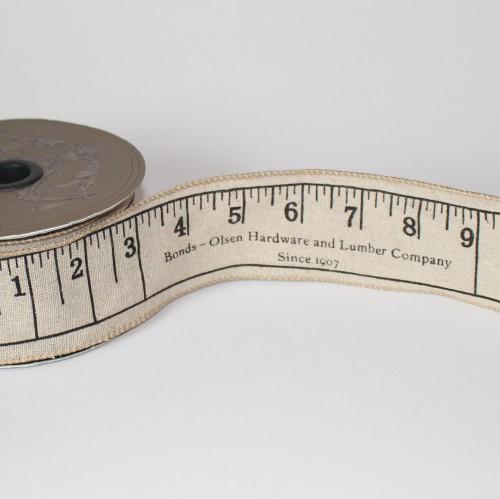 Leinenband vintage Zollstock Lineal 5cm
