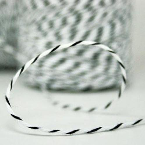 Divine Twine Garn schwarz / weiß 4-fädig / proMeter