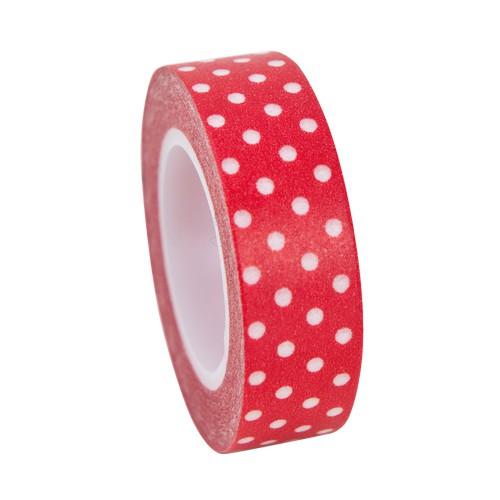 Masking Tape rot mit weissen Punkten