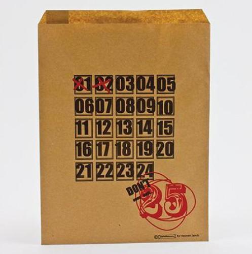 10 Papiertüten Kraft brit. Weihnachten Don't open