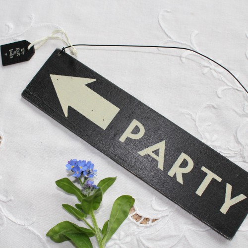 Deko-Schild Arrow PARTY Pfeil