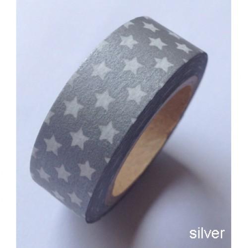 Masking Tape kleine Sterne silber