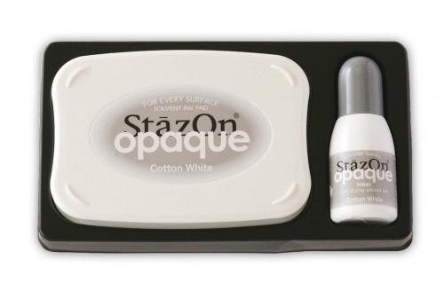 Stempelkissen StazOn Opaque weiss