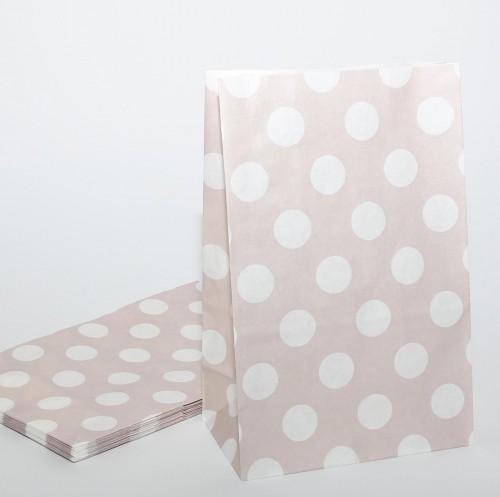 10 Papierbeutel grau mit weissen