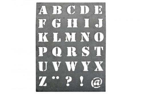 Zink Schablone Buchstaben Alphabet gross