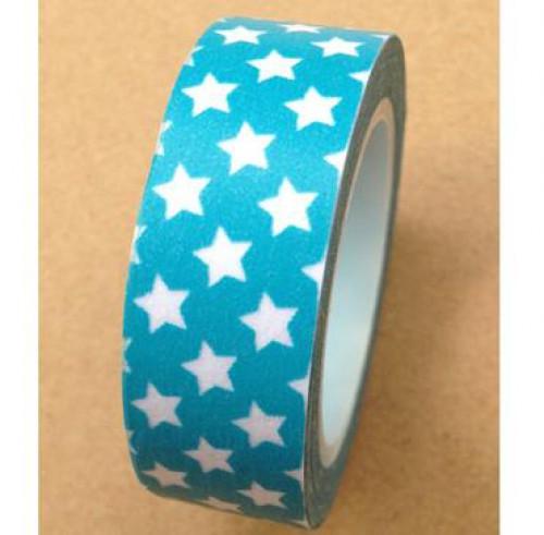 Masking Tape kleine Sterne hellblau