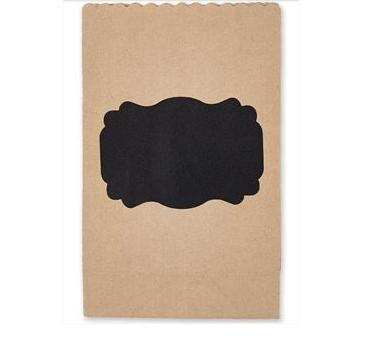 6 kleine Papierbeutel Kraftpapier Bracket Label Tafelfolie