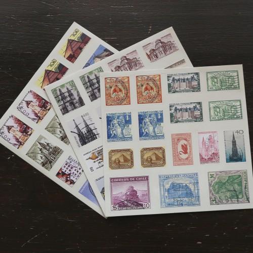 Sticker Briefmarken Sehenwürdigkeiten intern.