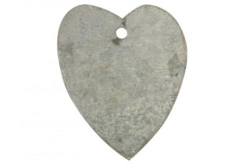 4 Geschenkanhänger Herz aus Zink