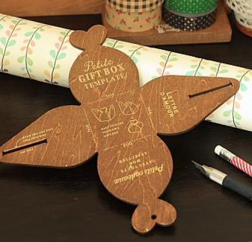 Holzschablone für kleine Geschenkschachtel