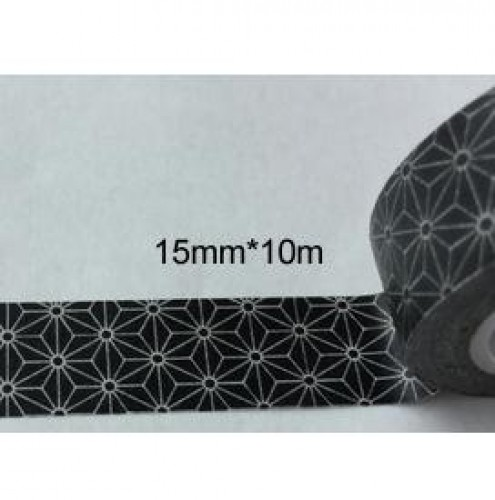 masking tape washi asanoha schwarz weiss gemustert achwieschoen. Black Bedroom Furniture Sets. Home Design Ideas