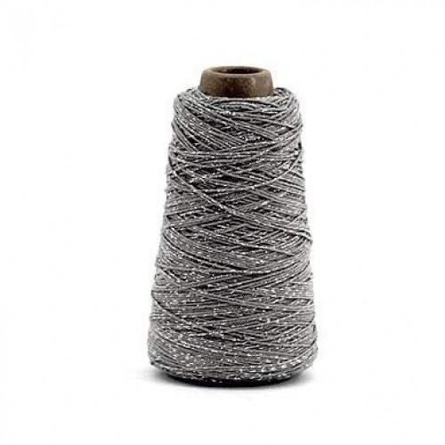 Bakerstwine Dekogarn Metallic taupe silber 300m