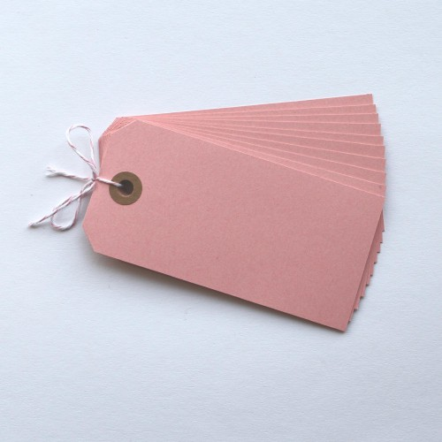 Paketanhänger rosa 10 Stk groß