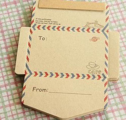 50er Block vintage Kraftpapier Briefumschläge France