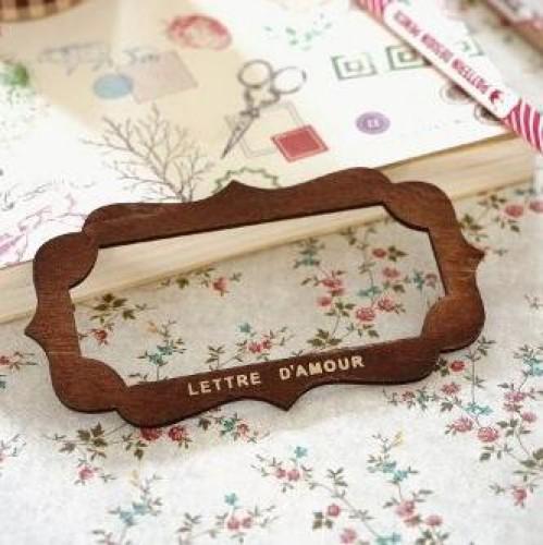 kleine Holzschablone für Label Etiketten B
