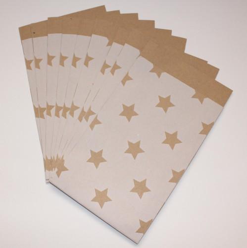 10 Papiertüten Stern Kraft Gr.L
