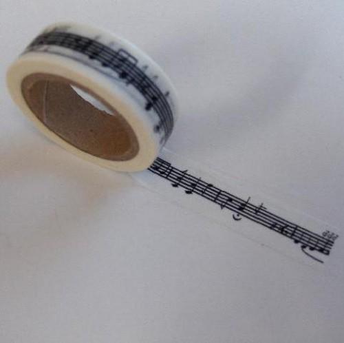 Washi Masking Tape Musiknoten