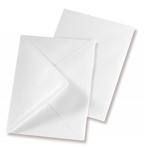 blanko Karten / Kuverts weiss 5er Set