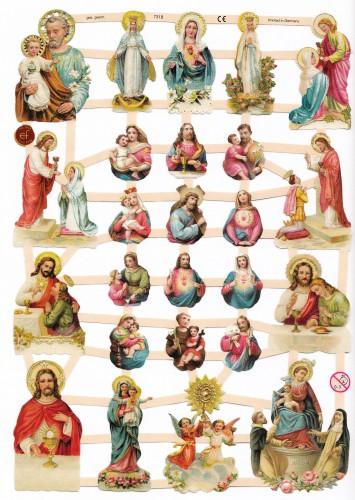 Glanzbilder Maria Jesus Jesuskind Heiligenbilder