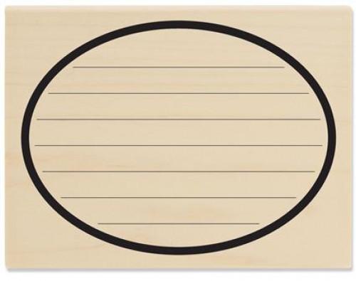 Stempel ovaler Rahmen liniert für Nachrichten quer
