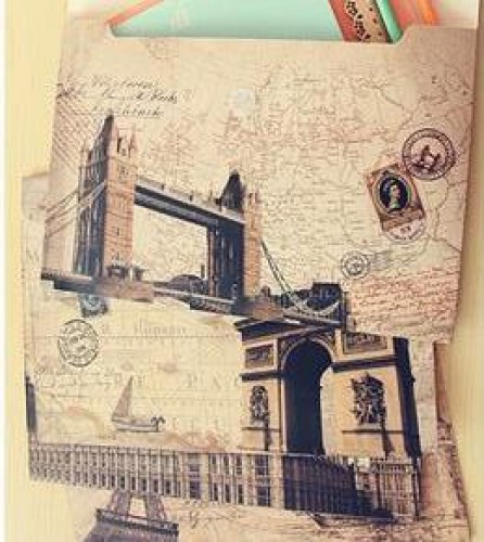 Dokumentenmappe File A4 Big Ben London vintage maps