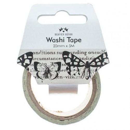 Masking Tape Butterfly Newsprint 5m Washi