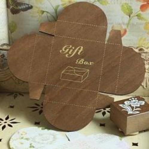 Holzschablone für kleine Geschenk-Schachtel