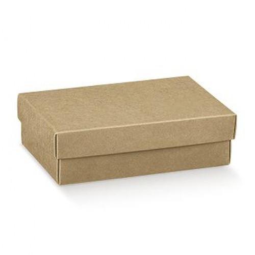 4 Schachteln Kraft 9,5x6,5x4cm mit Deckel
