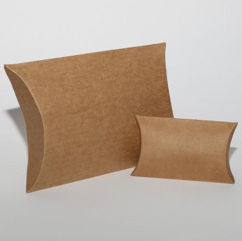 5 kleine Pillowbox Faltschachteln Kraft