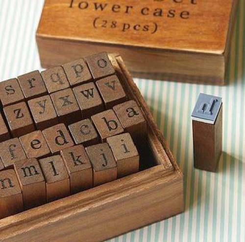 Stempelset Alphabet Kleinbuchstaben