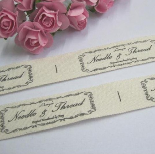 Webband Baumwollband Label Needle & Thread Handarbeit