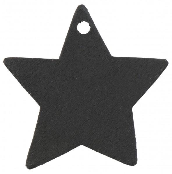 4 Stk Geschenkanhänger Stern schwarz