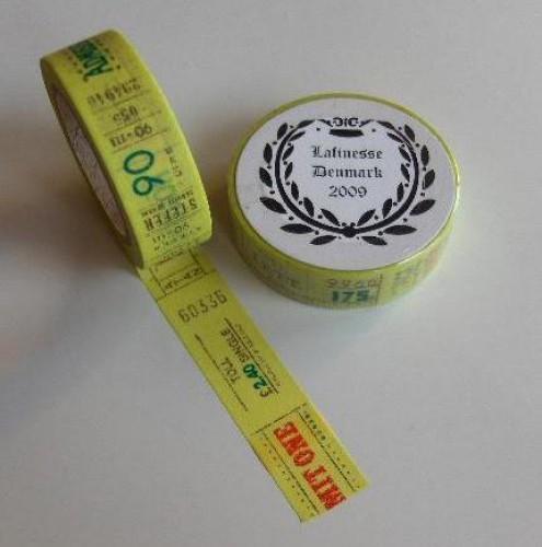 Washi Masking Tape Kollage Tickets
