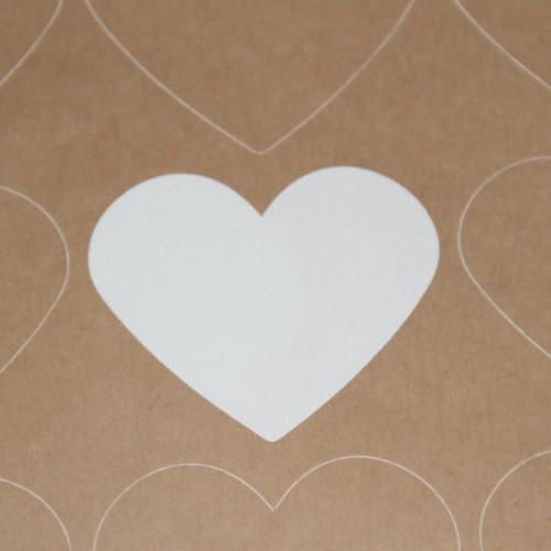 blanko A4 Bogen Kraftpapier braun Label 15 Stk Herz